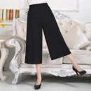 Middle aged and old women's wear Summer of 2018 XL,XXL,XXXL,4XL,5XL commute trousers easy singleton  Solid color 40-49 years old thin 7 / 9 pants