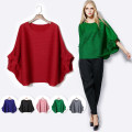 Women's large Winter 2020, autumn 2020 Big size average Other oversize styles singleton  commute easy moderate Socket Short sleeve Solid color lady Crew neck Medium length polyester fiber fold Bat sleeve 30-34 years old 96% and above
