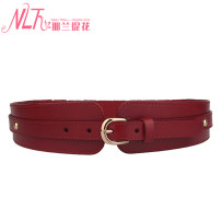 Belt / belt / chain top layer leather female Waistband Versatile Single loop Middle aged youth Pin buckle Glossy surface Glossy surface 5.5cm alloy Nalan jacquard Autumn and winter 2017