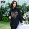 Women's large Spring 2021 T-shirt singleton  commute easy moderate Socket Long sleeves letter Korean version Polyester others Three dimensional cutting routine Simple implication 30-34 years old Pure e-commerce (online only)