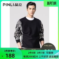 T-shirt / sweater Pinli Fashion City black M170,L175,XL180,XXL185,XXXL190 routine Socket Crew neck Long sleeves B203210076 autumn Straight cylinder Polyacrylonitrile fiber (acrylic fiber) 47% polyester fiber 30.7% polyamide fiber (nylon fiber) 22.3% leisure time tide youth routine