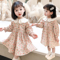 Dress Off white, off white mesh female Other / other 80cm,90cm,100cm,110cm,120cm,130cm Cotton 100% spring and autumn lady Short sleeve Broken flowers cotton A-line skirt 2020C003 Class B 12 months, 18 months, 2 years old, 3 years old, 4 years old, 5 years old, 6 years old, 7 years old