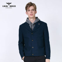 Jacket LOUIS ROYER Youth fashion Royal Blue S/46 M/48 L/50 XL/52 XXL/54 XXXL/56 routine standard Other leisure autumn MR521301 Wool 60% polyamide fiber (nylon) 20% modal fiber (modal) 15% camel hair 5% Long sleeves Wear out tailored collar Youthful vigor youth routine Single breasted Straight hem
