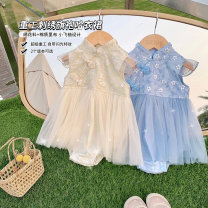 Dress Champagne, clear water blue, clear water blue is expected to arrive at the warehouse, and champagne is expected to arrive at the warehouse female luson 59, 66, 73, 80, 90 Other 100% summer princess Solid color other Princess Dress FTX111021 other