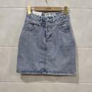 skirt Summer 2020 S,M,L,XL Denim blue, black and grey Short skirt commute Natural waist Denim skirt 18-24 years old 91% (inclusive) - 95% (inclusive) Denim other Korean version