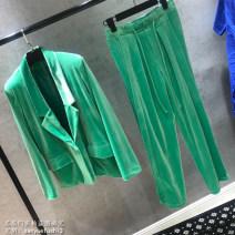 suit Autumn of 2019 green XS,S,M,L,XL