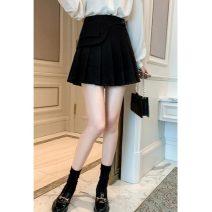 skirt Winter 2020 S,M,L,XL Brown, black Short skirt Sweet Pleated skirt 25-29 years old