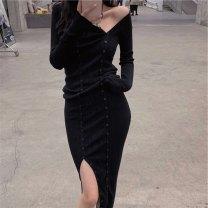 Dress Spring 2021 Black short, black long Average size 18-24 years old