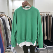 Sweater Youth fashion Others Green, yellow, blue, ginger, gray, dark gray, black, pink, oatmeal Average size Solid color Socket