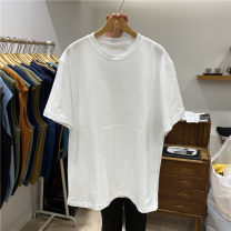 T-shirt Youth fashion White, yellow, green, purple, dark blue, ginger, black, blue, mint, mustard, orange, pink, mocha, brown routine M, L Others Short sleeve Crew neck easy Other leisure summer