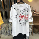 T-shirt Youth fashion White, black, fluorescent green, orange red routine Average size Others Short sleeve Crew neck easy Other leisure summer