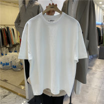 T-shirt Youth fashion White, black routine Average size Others Short sleeve Crew neck easy Other leisure summer