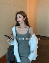 Vest sling Spring 2020 White short, gray short, blue short, stripe long, blue long Average size
