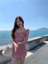 Dress Summer 2021 Black, pink Average size