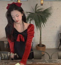 Dress Winter 2020 Black with red S, M