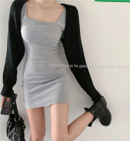 Fashion suit Summer 2020 Average size Black vest, grey vest, black cardigan, white cardigan