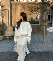 Sweater / sweater Winter 2020 Sweater, skirt S. M, average size Long sleeves routine Socket singleton  Plush Crew neck easy Sweet routine 96% and above cotton cotton Cotton liner