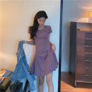 Dress Summer 2020 Purple, blue, black Average size