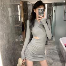 Dress Spring 2020 Gray, black Average size