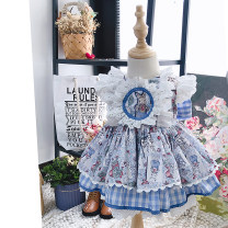 Dress Picture color, matching base coat female Lux young Isabelle 80cm,90cm,100cm,110cm,120cm,130cm Cotton 100% No season Europe and America Skirt / vest other cotton Pleats YT-17 Class B 12 months, 9 months, 18 months, 2 years old, 3 years old, 4 years old, 5 years old, 6 years old, 7 years old