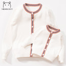 Parent child fashion white Women's dress female Nikoscout / Nick family NKMY10091 spring and autumn Korean version routine Solid color loose coat blending L M S XL XXL NKMY10091 Cotton 100% Autumn of 2019 12 months 18 months 2 years 3 years 4 years 5 years 6 years 7 years 8 years 9 years old