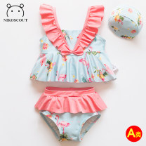 Bathing suit Polyethylene terephthalate (PET) 85% polyurethane elastic fiber (spandex) 15% Nikoscout / Nick family female Children's split swimsuit Summer 2020 Chinese Mainland 12 months, 18 months, 2 years old, 3 years old, 4 years old, 5 years old, 6 years old, 7 years old and 8 years old