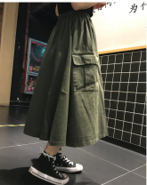 skirt Spring 2021 L suggests 110-125 kg, XL 125-135 kg, 2x 135-150 kg, 3x 150-170 kg, 4x 170-190 kg, 5x 190-210 kg, m 90-110 kg Military green spot, Navy spot, black spot Mid length dress Rock and roll High waist A-line skirt Type A 18-24 years old 71% (inclusive) - 80% (inclusive) Other / other