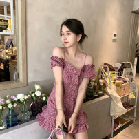 Dress Spring 2021 Pink dress S M Middle-skirt 18-24 years old Amy it girl W709 More than 95% other Other 100% Pure e-commerce (online only)