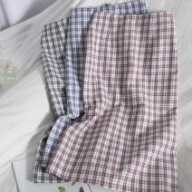 skirt Spring 2021 S,M,L,XL Black, blue, pink Mid length dress Versatile High waist skirt lattice Type H 18-24 years old 71% (inclusive) - 80% (inclusive) other zipper