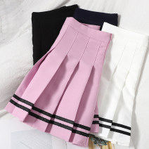 skirt Spring 2021 S,M,L,XL White, black, blue, pink Short skirt Versatile High waist Pleated skirt other Type A 18-24 years old 71% (inclusive) - 80% (inclusive) other zipper
