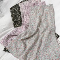 skirt Spring 2021 Average size Leopard 20, Panther 21, black 22, purple 23, green 24, pink 25 Mid length dress Versatile High waist High waist skirt Broken flowers Type A 18-24 years old 81% (inclusive) - 90% (inclusive) Chiffon