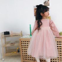Dress female Other / other Other 100% spring and autumn leisure time Short sleeve Solid color A-line skirt other 2, 3, 4, 5, 6, 7, 8, 9, 10 years old Chinese Mainland Guangdong Province Guangzhou City