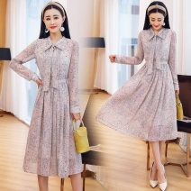 Dress Spring 2021 Picture color M. L, XL, 2XL, fashionable and elegant dress Mid length dress Long sleeves 25-29 years old XC-5618-HRYZ-J Lace