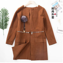 Windbreaker Spring 2021 S. M, l, send exquisite hair ball decoration, fashion luxury coat Red, grey, brown Long sleeves Medium length commute other other routine Solid color Self cultivation Ol style Other / other GP-DK6611-WT 18-24 years old Pocket, zipper 96% and above