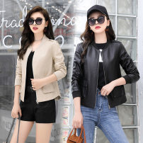 leather clothing Other / other Spring 2021 M. L, XL, 2XL, Fashion Top goods, fashion boutique leather coat Black, beige Long sleeves XC-DK922-YBX 25-29 years old