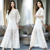 Fashion suit XC-1016-BBL-J Summer 2021 25-35 years old White, black S. M, l, XL, XXL, XXL, noble and elegant, fashionable and luxurious two piece lace set