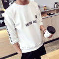T-shirt Youth fashion routine Others three quarter sleeve Crew neck Self cultivation daily Four seasons Other 100% teenagers routine Exquisite Korean style 2017 Geometric pattern printing cotton Creative interest No iron treatment Fashion brand 50% (inclusive) - 69% (inclusive)