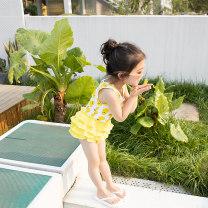 Children's swimsuit / pants Digesta Children's one piece swimsuit female polyester fiber Summer 2020