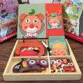 Jigsaw puzzle Zhikubao 2 years old, 3 years old, 4 years old, 5 years old, 6 years old Wooden toys Chinese Mainland A03 Cartoon animation Changing / dressing puzzle wood < 14 years old nothing