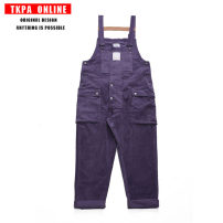 Casual pants TKPA Youth fashion Khaki, black, purple M. L, XL, XXL Plush and thicken trousers Other leisure easy Micro bomb Four seasons teenagers tide 2020 middle-waisted Straight cylinder Overalls Pocket decoration No iron treatment Solid color corduroy cotton 80% (inclusive) - 89% (inclusive)