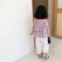 suit Yyoumm / youmaomi Dot - black pants (pre-sale), purple - white pants (pre-sale), collection baby priority delivery 110cm,100cm,130cm,120cm,90cm,80cm female Korean version Class A 3 months