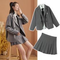 Fashion suit Spring 2021 S M L XL Jacket / black jacket / rock lime skirt / black skirt / rock lime suit / black suit (excluding shirt) / rock ash shirt / Ben Bai Bei Yong 289.9 18-25 years old Tonlion / Tang lion 71% (inclusive) - 80% (inclusive)