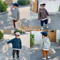 Sweater / sweater YUNERMA Grey, dark blue, dark coffee male 1y (80cm), 2Y (90cm) models try on, 3Y (100cm), 4Y (110cm), 5Y (120cm), 6y (130cm), 7Y (140cm) spring and autumn nothing Simplicity Socket Thin money There are models in the real shooting other other Cotton 95% other 5%