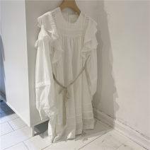 Dress Spring 2021 White, apricot Average size