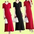 Dress Summer 2020 One size fits all - big stretch (recommended 80-130 kg, big new - Recommended 120-180 kg / big stretch) longuette singleton  Short sleeve Thread, splice 9EF17C060 30% and below