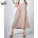 Casual pants Black Camel S M L XL Autumn of 2019 trousers Wide leg pants High waist C92318E Lovete fold Polyester 92% polyurethane elastic fiber (spandex) 6% viscose fiber (viscose) 2%