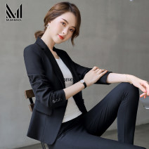 Professional dress suit S M L XL 2XL 3XL 4XL Summer of 2019 Long sleeves loose coat A-line skirt 25-35 years old Muminol / mengmanu Polyester fiber 93.2% polyurethane elastic fiber (spandex) 6.8% Pure e-commerce (online only)