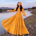 Dress Autumn 2020 yellow M L XL XXL XXXL Mid length dress singleton  Long sleeves commute 30-34 years old The story of two Korean version QZ0883 91% (inclusive) - 95% (inclusive) polyester fiber Polyester 92% polyamide 8%