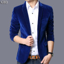 man 's suit Guy burting Fashion City routine 48/165 50/170 52/175 54/180 56/185 58/190 60/195 Polyester 100% Autumn 2015 Self cultivation A single breasted button Other leisure Back middle slit youth Long sleeves autumn routine tide Casual clothes Regular collar (collar width 7-9cm) Round hem