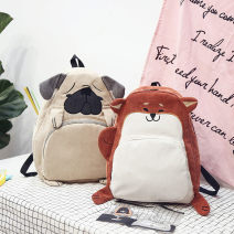 Backpack cotton Other / other brand new in zipper leisure time Double root Street trend soft youth no Soft handle Cartoon animation nothing female Water splashing prevention Vertical square Computer pocket polyester fiber yes 15 inches set-in pocket